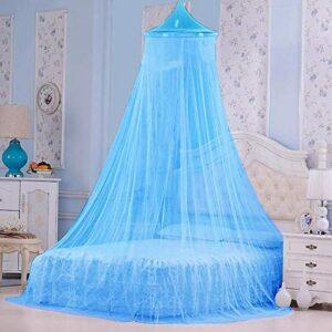 Styles Closet Polyster Round Ceiling Mosquito Net(Double Bed,6.5 * 6.5 ft) (Blue)